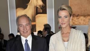 Aga Kan with his latest mistress, Beatrice von der Schulenburg